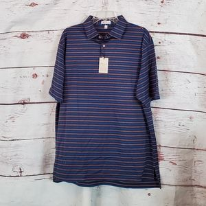 Peter Millar Crown Ease Striped Polo Size XL NWT